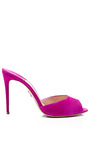 M'O Exclusive: Artistata Suede Mule Stiletto Heels by Paul Andrew Now Available on Moda Operandi