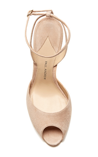 Paul Andrew - M'O Exclusive: Europeaus Suede Ankle-Strap Stilettos