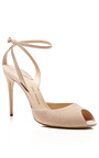 M'O Exclusive: Europeaus Suede Ankle-Strap Stilettos by Paul Andrew Now Available on Moda Operandi
