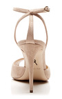 M'O Exclusive: Europeaus Suede Ankle-Strap Stilettos by Paul Andrew for Preorder on Moda Operandi