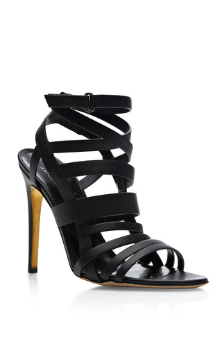 M'O Exclusive: + Antonio Berardi Tallyho Leather Sandals by Rupert Sanderson Now Available on Moda Operandi