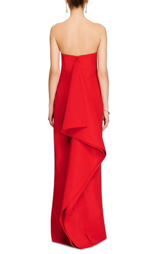 Draped Back Silk-Faille Column Gown by Rosie Assoulin Now Available on Moda Operandi
