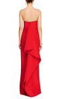 Draped Back Silk-Faille Column Gown by Rosie Assoulin for Preorder on Moda Operandi