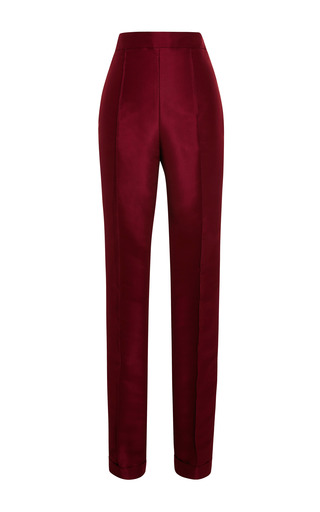 Cuffed Silk-Faille Cigarette Pants by Rosie Assoulin for Preorder on Moda Operandi