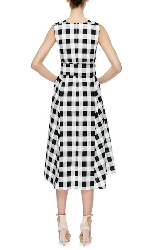 Belted Gingham Faille Dress by Derek Lam Now Available on Moda Operandi