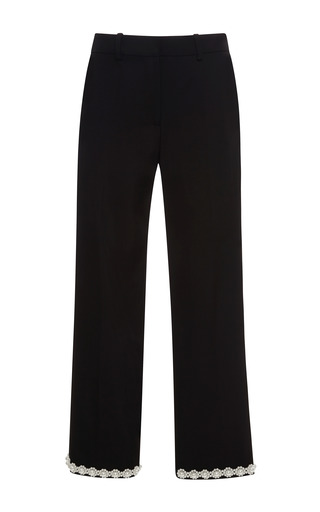 Pearl-Embellished Cropped Ankle Pants by Simone Rocha Now Available on Moda Operandi