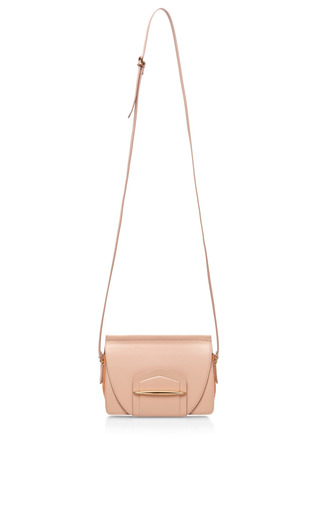 Folded Case Leather and Suede Shoulder Bag by Nina Ricci Now Available on Moda Operandi