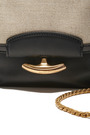 Gala Leather and Linen Shoulder Bag by Nina Ricci for Preorder on Moda Operandi
