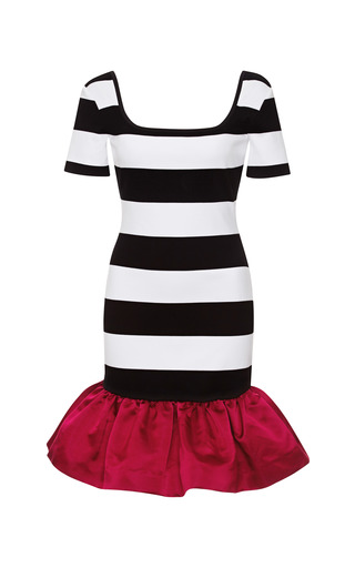 Reno Striped Ruffled-Hem Jersey Dress by Mother of Pearl Now Available on Moda Operandi