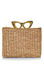 Sunny Basket Raffia and Metallic Leather Tote by Charlotte Olympia Now Available on Moda Operandi
