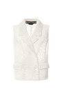 Jersey Jacquard Devoré Vest by Rochas Now Available on Moda Operandi