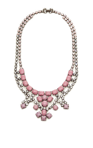 Neopolitano Crystal and Stone Necklace by Tom Binns Now Available on Moda Operandi