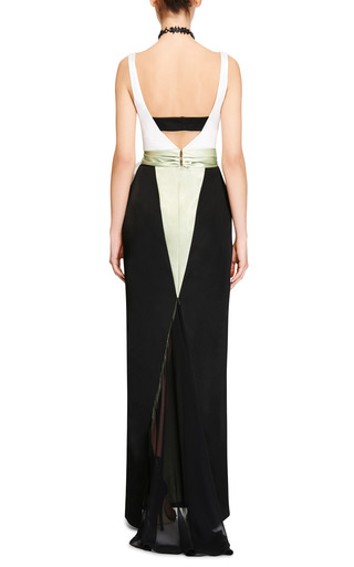 Color-Block Satin and Chiffon Gown by Prabal Gurung Now Available on Moda Operandi