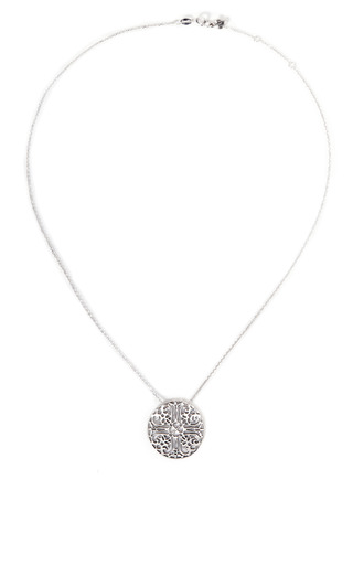 Lace Silver Pendant Necklace On A Sterling Silver Chain by Gag & Lou Now Available on Moda Operandi