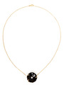 Onyx Rose Necklace With Diamond Insert, Yellow Gold Chain by Gag & Lou Now Available on Moda Operandi