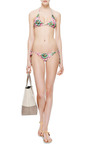 Syros Printed Triangle Bikini Top by Mary Katrantzou Now Available on Moda Operandi