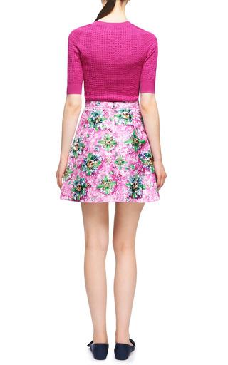 Amber Printed Satin Pleated Skirt by MARY KATRANTZOU Now Available on Moda Operandi
