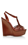 Akemi Braided-Leather Platform Wedges by Brian Atwood Now Available on Moda Operandi