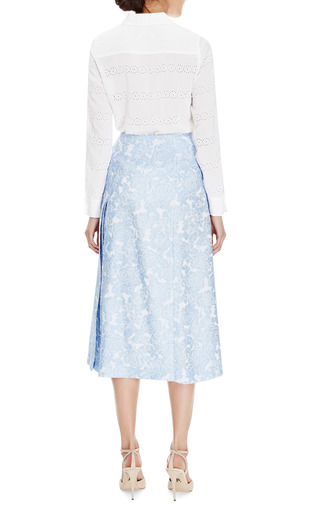 Lidya Floral-Jacquard Midi Skirt by Vivetta for Preorder on Moda Operandi