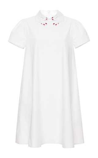 Sandrino Embroidered Cotton Dress by Vivetta Now Available on Moda Operandi