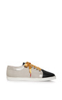 Printed Silk and Leather Sneakers by Twins For Peace Now Available on Moda Operandi