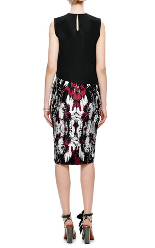 Satin Floral-Print Midi Skirt by Aquilano.Rimondi Now Available on Moda Operandi