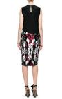 Satin Floral-Print Midi Skirt by Aquilano.Rimondi for Preorder on Moda Operandi