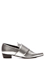 Metallic Embossed Leather Pointed-Toe Flats by Rodarte Now Available on Moda Operandi