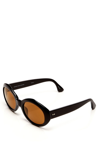 + Dries Van Noten Oval Acetate Sunglasses by Linda Farrow for Preorder on Moda Operandi
