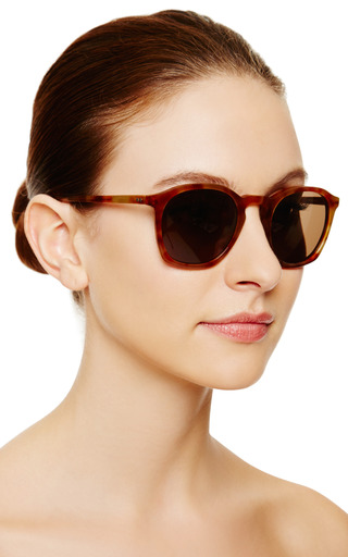 Linda Farrow - For Dries Van Noten Tortoiseshell D-Frame Acetate Sunglasses