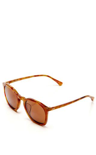 For Dries Van Noten Tortoiseshell D-Frame Acetate Sunglasses by Linda Farrow for Preorder on Moda Operandi