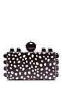 Polka-Dot Printed Snakeskin Clutch by Tonya Hawkes Now Available on Moda Operandi