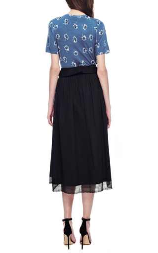 Meadham Kirchhoff - Lace-Trimmed Cotton A-Line Midi Skirt