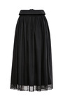 Lace-Trimmed Cotton A-Line Midi Skirt by Meadham Kirchhoff Now Available on Moda Operandi