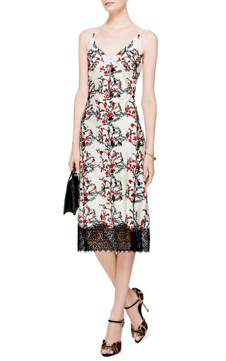 Meadham Kirchhoff - Embroidered Long Silk Slip Dress