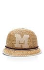 Ali Monogram Straw Cap by Muhlbauer Now Available on Moda Operandi