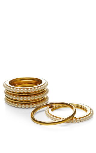 Fallon - Gold-Plated and Pearl Bangle Set