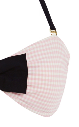 Gingham Bandeau Bathing Suit by ETE Swim Now Available on Moda Operandi