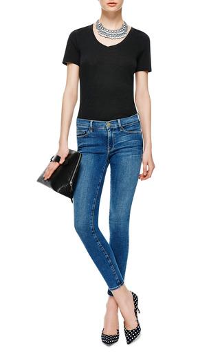Stretch Modal V Neck T Shirt by ATM Now Available on Moda Operandi