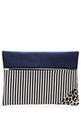 Striped and Printed Zip Clutch by Vanities Now Available on Moda Operandi