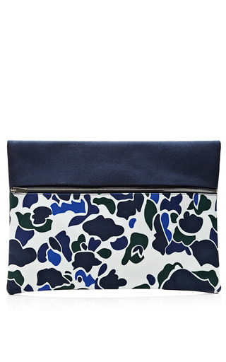 Printed Zip Clutch by Vanities Now Available on Moda Operandi