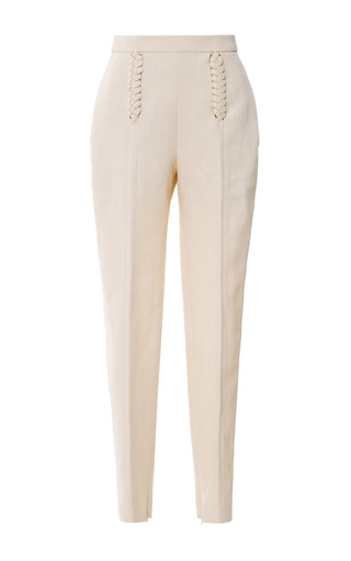Braid-Detail Cropped Pants by DELPOZO Now Available on Moda Operandi
