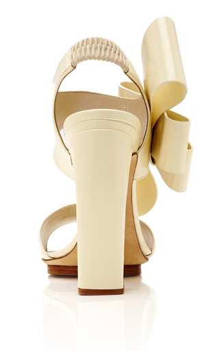 Patent-Leather Bow-Detail Sandals by DELPOZO Now Available on Moda Operandi