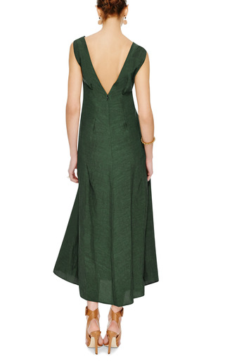 Washed Cloqué V Back Midi Dress by MARNI Now Available on Moda Operandi