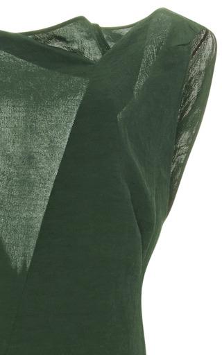 Washed Cloqué V-Back Midi Dress by Marni Now Available on Moda Operandi