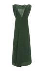 Washed Cloqué V-Back Midi Dress by Marni Now Available on Moda Operandi