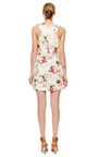 Floral Denim Criss-Cross Dress by Carven for Preorder on Moda Operandi