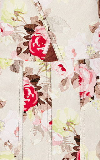 Floral Denim Criss-Cross Dress by Carven Now Available on Moda Operandi