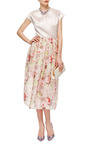 Floral-Print Woven Silk Midi Skirt by Carven Now Available on Moda Operandi