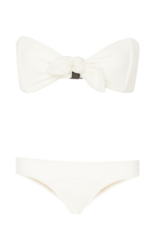 Poppy Knotted Bandeau Bikini by Lisa Marie Fernandez Now Available on Moda Operandi